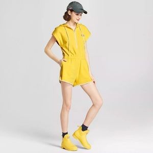 Hunter For Target Yellow Hooded Zip Up Romper